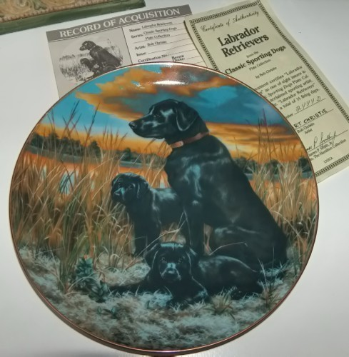Primary image for Hamilton Collection Labrador Retrievers Plate