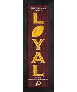 "Personalized Washington Redskins ""Loyal""- 8x24 Textured Look Framed Print - $39.95"