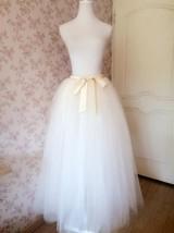 Plus Size White Wedding Bridal Skirt White Floor Length Tulle Skirt High Waisted image 8
