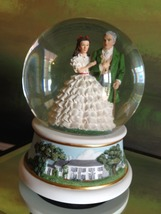 San Francisco Music Box Co-Scarlett &Gerald O'Hara Waterglobe Gone With ... - $75.00