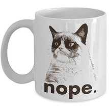 Best NOPE Grumpy Cat Novelty Ceramic Coffee Lovers Mug, Funny Travel Tea... - $14.95+
