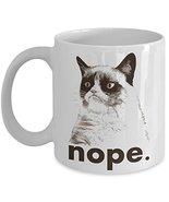 Best NOPE Grumpy Cat Novelty Ceramic Coffee Lovers Mug, Funny Travel Tea... - $14.95+