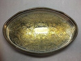 VINTAGE Reed and BARTON Copper on SILVER PLATE Oval SERVING TRAY GVC 1989 - $109.69
