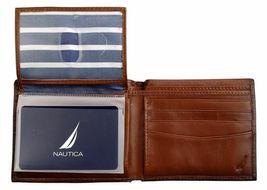 Nautica Men's Premium Leather Credit Card Id Wallet Billfold Tan 31Nu22X023 image 6
