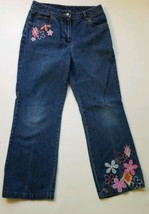 Talbots Kids Girls Embroidered Jeans size 12 - $7.71