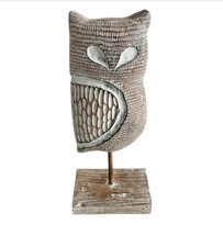 "Decoration Resin Owl on Stand, 13"" O5 - $138.59"