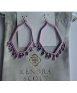 NWT-KENDRA SCOTT THOMAS MATTE LILAC DROP EARRINGS IN LIGHT AMETHYST GLASS - $42.57