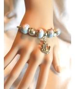 NeW Mermaid Jewelry Anchor Charm Bracelet- Sailboat Seaman European Beads - $4.99