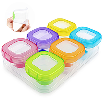 6Pcs 2Oz Baby Food Blocks Containers, Leakproof Baby Food Containers Wit... - $16.82