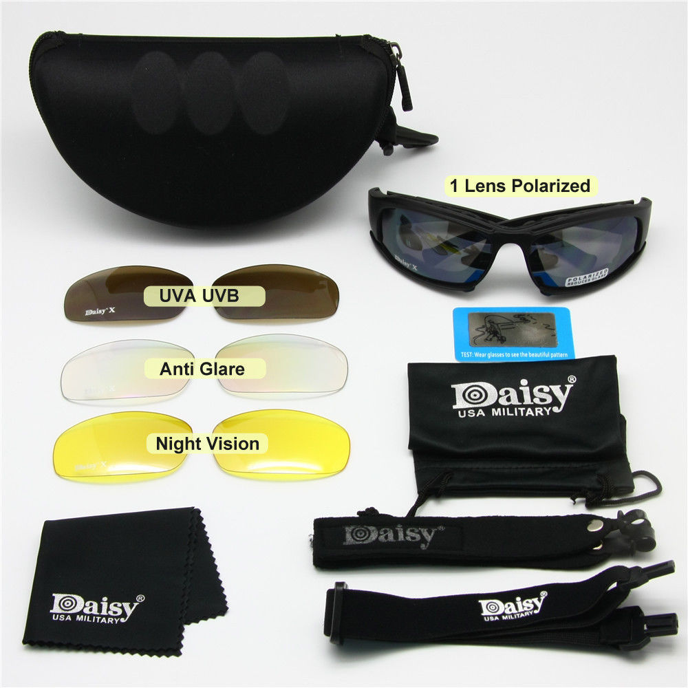 44ee0246a6 Daisy X7 Military Tactical Goggles Sunglasses Polarized Lenses X7 Polarized