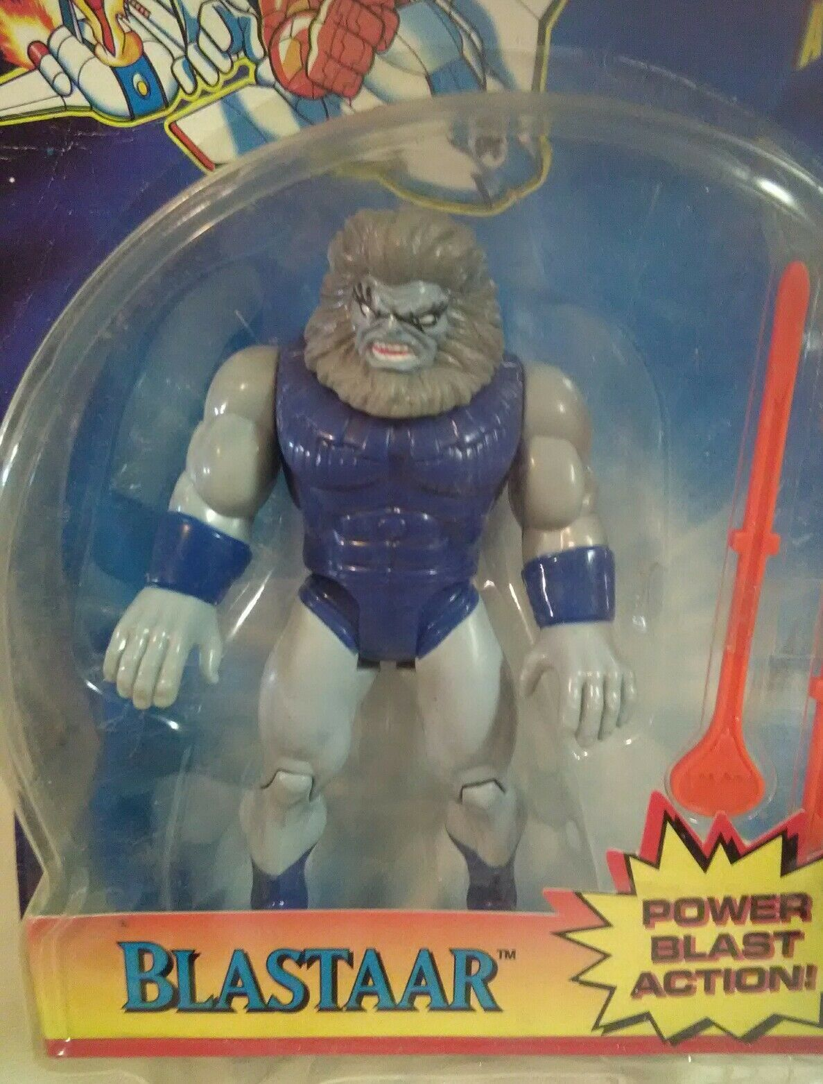 """Fantastic Four """"BLASTAAR"""" Action Figure 1995 Toy Biz New With Package Damage"""