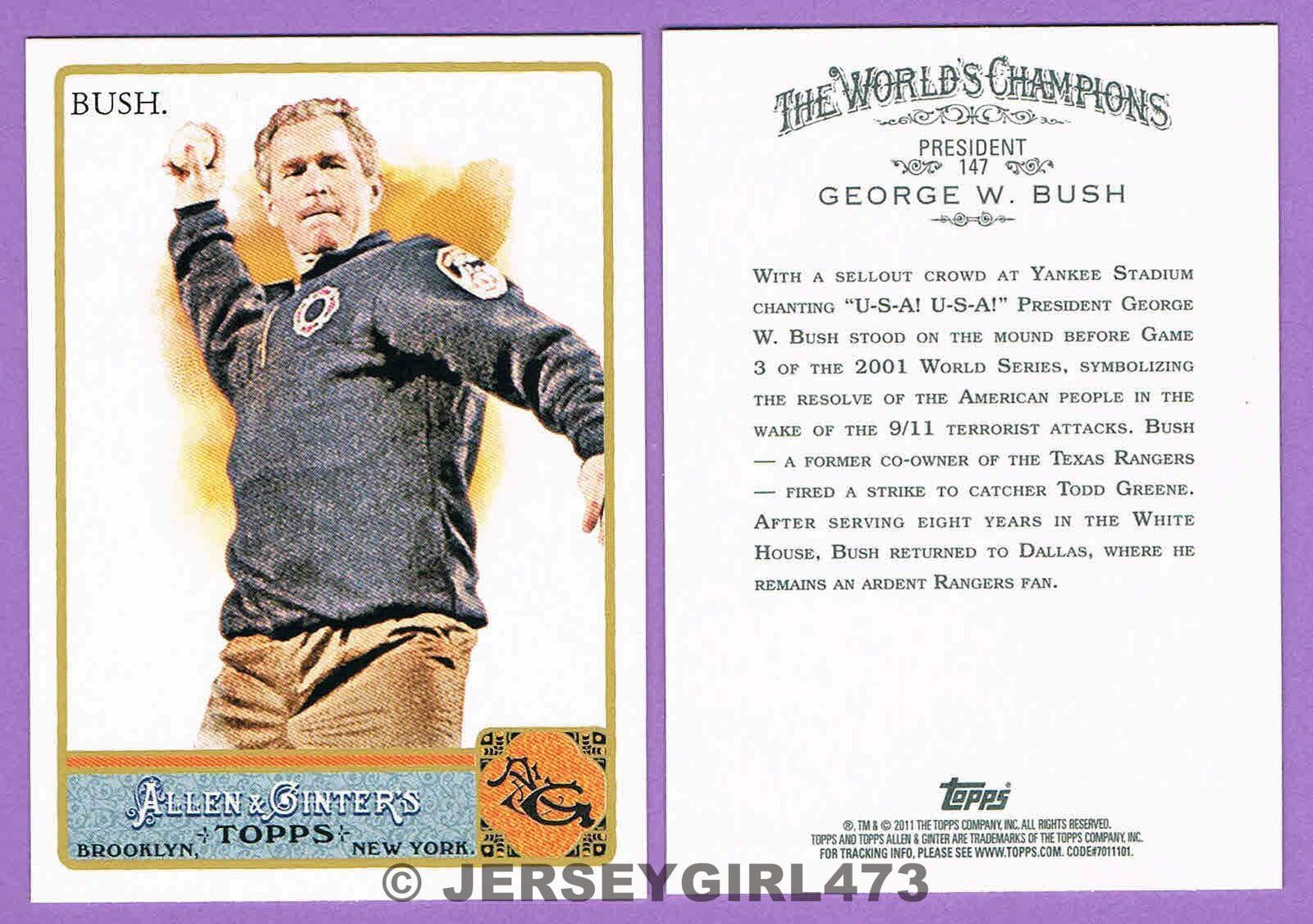 President George W. Bush 2011 Topps Allen & Ginter's Card #147