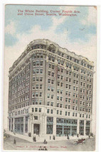 White Building Seattle Washington 1912 postcard - $6.44