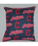 Indians Pillow Cleveland Indians  MLB Pillow Baseball Pillow HANDMADE in... - $9.97