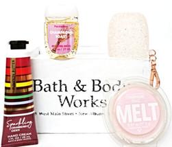 Bath & Body Works Champagne Toast Wax Melt, Hand Lotion, Pocketbac, Pink... - $22.56