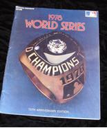1978 world series program New York yankees los angeles dodgers - £41.12 GBP
