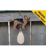 Otterhound Deluxe crate tag double sided, hang ... - $29.00