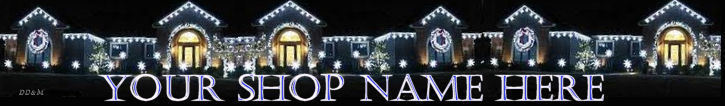 Primary image for Web Banner Christmas Lights at Night Custom Designed Web Ban