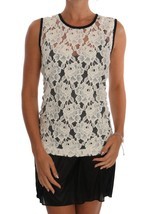 Dolce & Gabbana White Floral Lace Blouse Top 111744 - $210.96