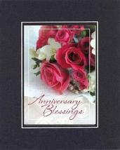 Anniversary Blessings. 8 x 10 Inches Biblical/Religious Verses set in Double Bev - $11.14