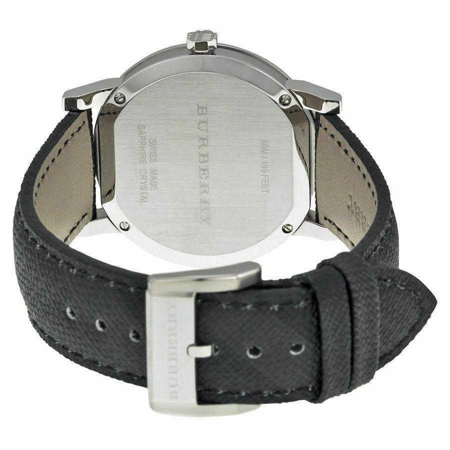 Burberry BU9030 Check Engraved Swiss Made Mens Watch