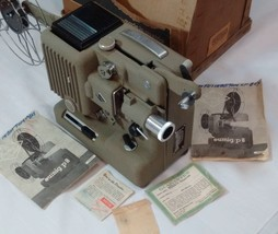Vintage 1954 EUMIG P8 - 8mm Cine FILM home movie PROJECTOR with instruct... - $35.36