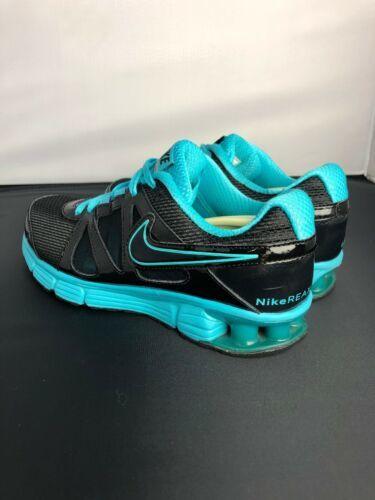 Nike Reax Rocket 2 Running Shoes 454175 004 Black Aqua Womens Size 8.5 image 4