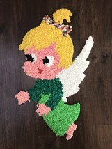 "Vintage 21"" Melted Popcorn Angel With Wings Wall Decoration #2 - $9.89"
