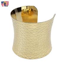 Women Sexy Silver Gold Tone Metallic Alloy Cuff BANGLE Bracelet Valentine Gift - $7.25+