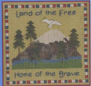 Primary image for Land Of The Free LL56 Little Leaf Kit cross stitch Elizabeth's Designs