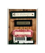 Signs of Spring cross stitch chart Erica Michaels - $3.00
