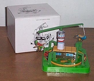 Merry Go Round Wind Up Toy Plane And Car Wind Up 1970s