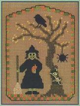 A Witch & Her Cat LL59 Little Leaf Kit cross stitch Elizabeth's Designs  - $11.70