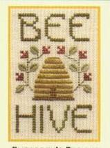 Bee Hive SC01 mini cross stitch chart Elizabeth's Designs  - $4.00