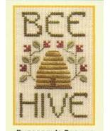 Bee Hive SC01 mini cross stitch chart Elizabeth's Designs  - $4.00
