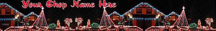 Primary image for Web Banner Night Time Christmas Lights Custom Designed Web B