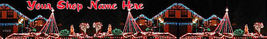 Web Banner Night Time Christmas Lights Custom Designed Web B - $7.00