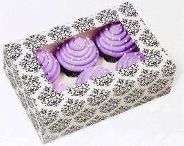 Wilton Large Damask Cupcake Boxes 6 Cavity Bakery Window Box Decorative ... - $14.95