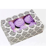 Wilton Large Damask Cupcake Boxes 6 Cavity Bakery Window Box Decorative ... - $14.95