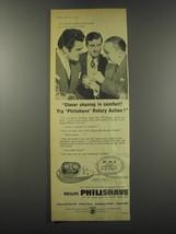 1957 Philips Philishave Ad - Freddie Mills, Freddie Trueman and Jack Train - $14.99