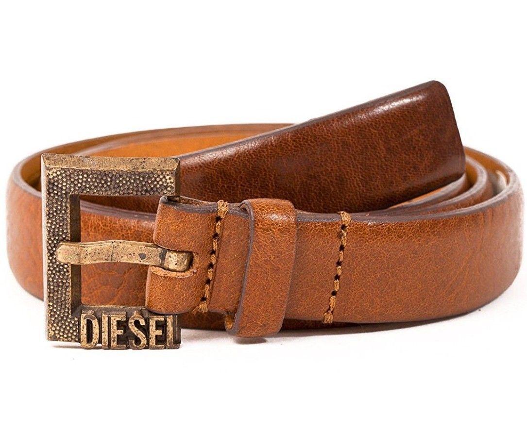 """Diesel BIMASSI Leather Belt Brown, Size 85cm/34"""" BNWT - $34.75"""