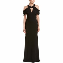 Badgley Mischka Strappy Cold Shoulder Gown/Dress RED or BLACK image 6