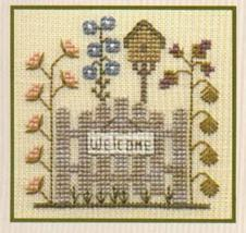 Garden Gate SC02 mini cross stitch chart Elizabeth's Designs  - $4.00