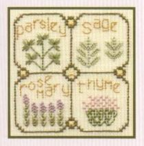 Herbs SC03 mini cross stitch chart Elizabeth's Designs  - $4.00