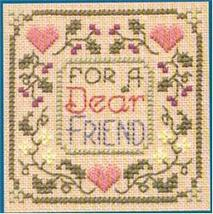 Dear Friend SC04 mini cross stitch chart Elizabeth's Designs  - $4.00