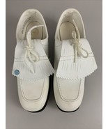 Endicott Johnson White Cleats Golf Shoes Women's Size 7.5 N New Vintage - $28.66