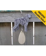 Scottish Deerhound Deluxe crate tag art, hang a... - $29.00