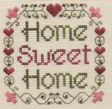 Home Sweet Home SC06 mini cross stitch chart Elizabeth's Designs  - $4.00