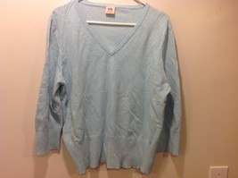 Faded Glory Originals Vintage V-Neck Baby Blue Long Sleeve Sweater image 1