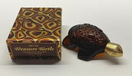 Vintage Avon Treasure Turtle Persian Wood Cologne 1 oz. Full with Box - $9.95